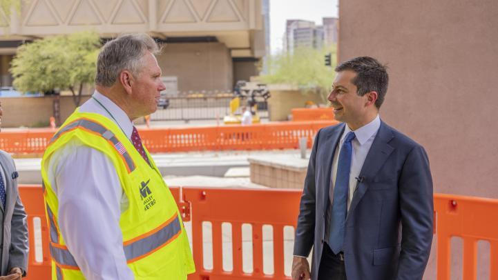 Scott Smith talks with Secretary Buttigieg