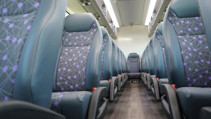 high-back seat inside bus