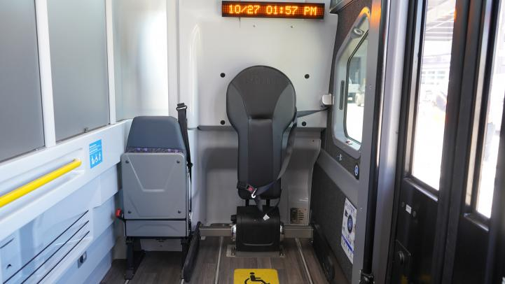 mobility device bay inside bus