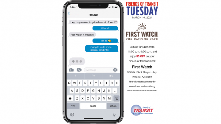 Friends of Transit Tuesday at First Watch