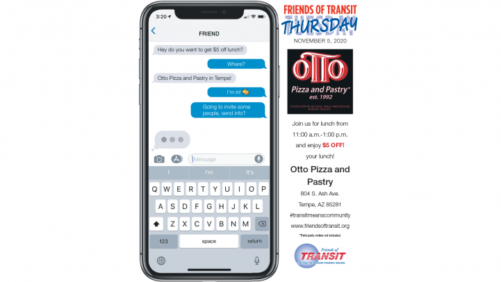 Get $5 off lunch at Otto Pizza on November 5 from 11 a.m. to 1 p.m.