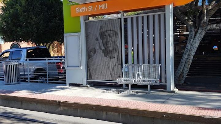 6th Street and Mill Avenue stop art installed November 2020.
