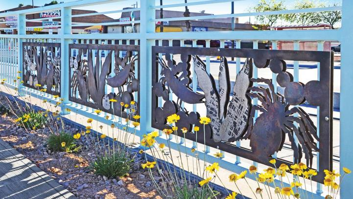 Northern and 19th Avenue light rail station art in Phoenix