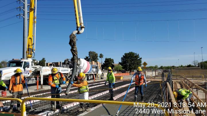 Northwest Extension Phase II construction