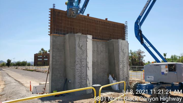 Bridge and infrastructure work continues along the Northwest Extension Phase II