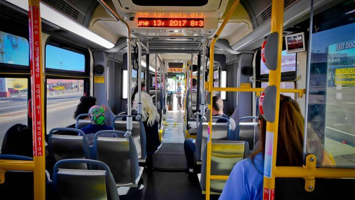 Passengers on Valley Metro bus