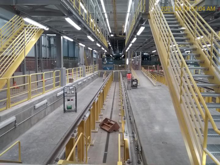 Construction projects wrapping up at rail operations and maintenance center