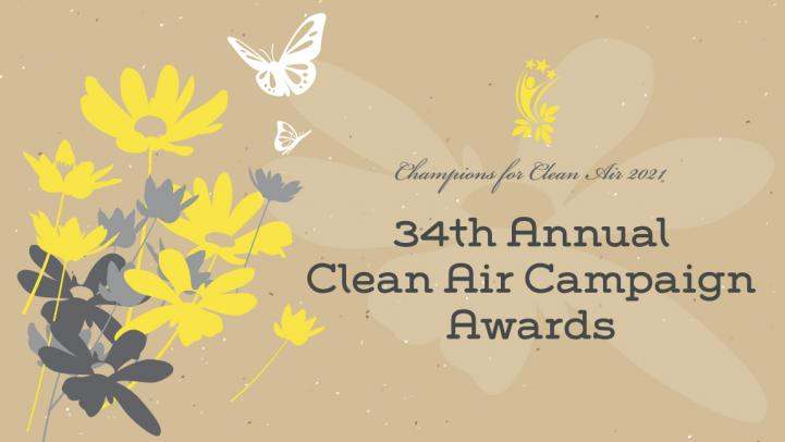 Row of Clean Air Campaign trophies