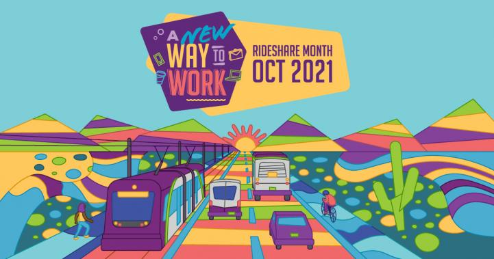 2021 Rideshare Month theme artwork