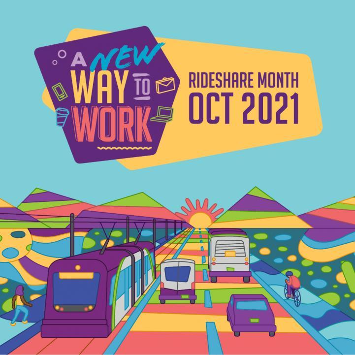2021 Rideshare Month theme artwork Instagram