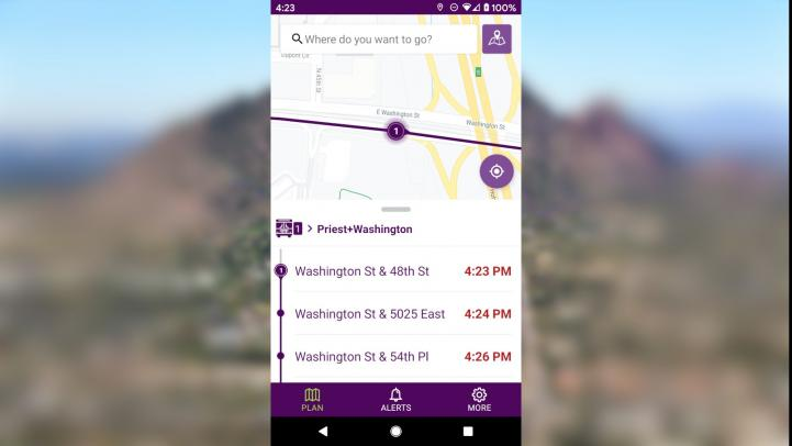 Get real-time information on where your next bus is with Valley Metro's new app