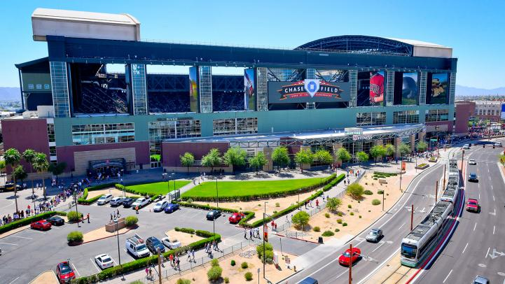 Valley Metro Rail at Chase Field