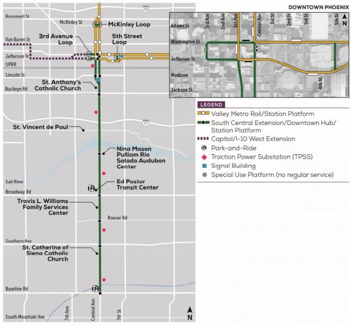 South Central Construction Map
