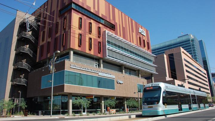 Valley Metro Rail at the ASU Downtown Walter Cronkite School of Journalism