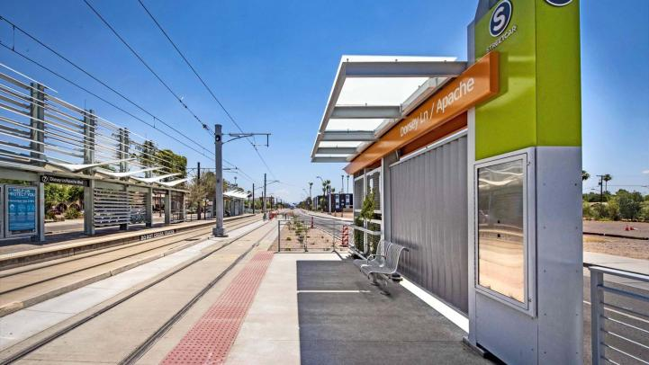Picture of Dorsey/Apache Blvd streetcar station