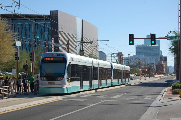 Light rail and buses help reduce carbon emissions