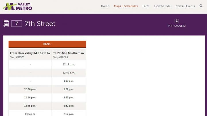 screenshot showing resulting eschedule