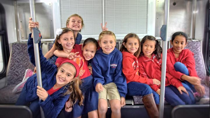 Kids on Valley Metro bus