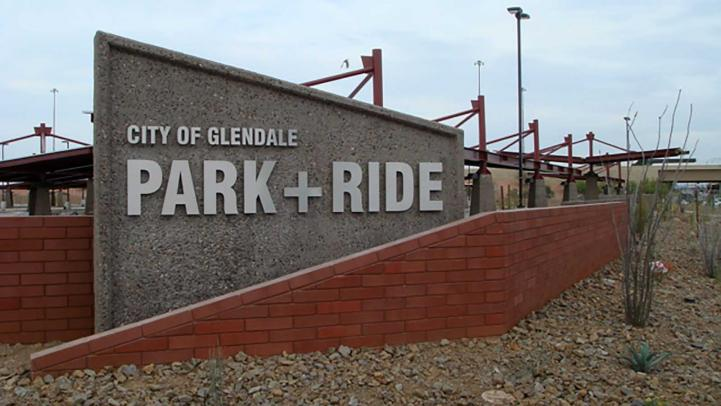 Glendale park-and-ride.