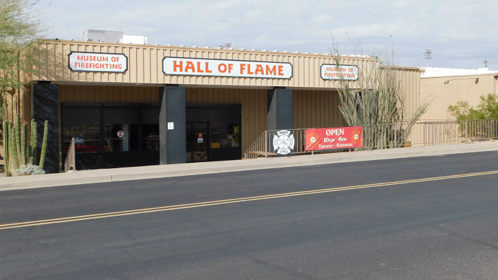 Exterior of Hall of Flame Museum