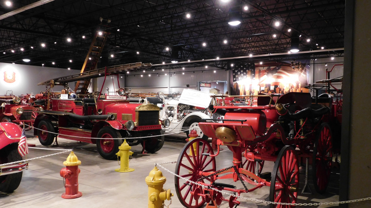 Fire Engines inside Hall of Flame Museum