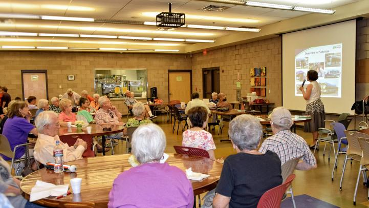 Teaching senior citizens about modes of transit