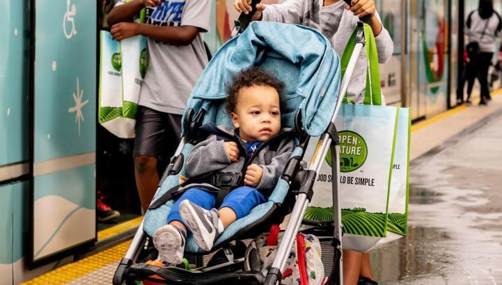 Photo of child in stroller.