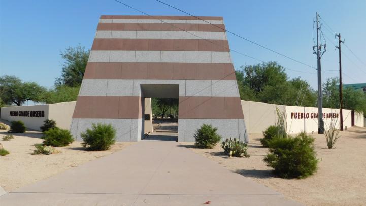 Portal at the entrance of the Pueblo Grande Museum