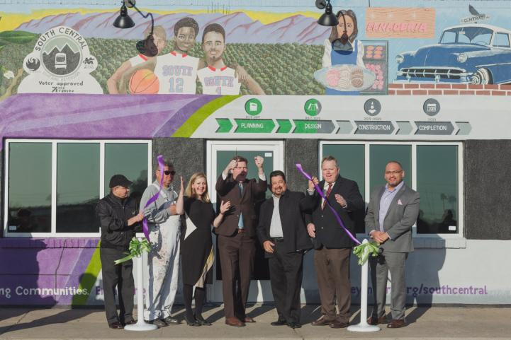 Ribbon cutting ceremony for South Central  Community Outreach office