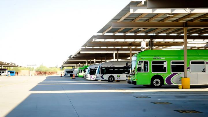 Solar Panel Bus Shade