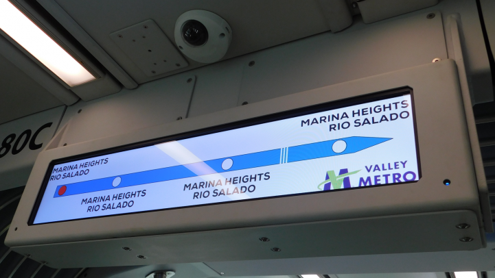 LED sign on Valley Metro Streetcar