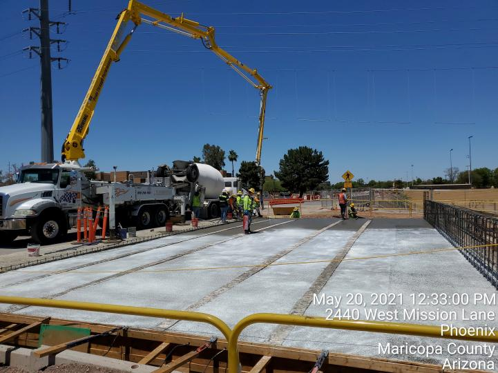 Bridge and infrastructure work continues on the Northwest Extension
