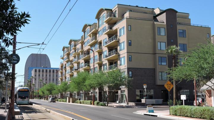 Buildings on Central Avenue in Phoenix, Arizona