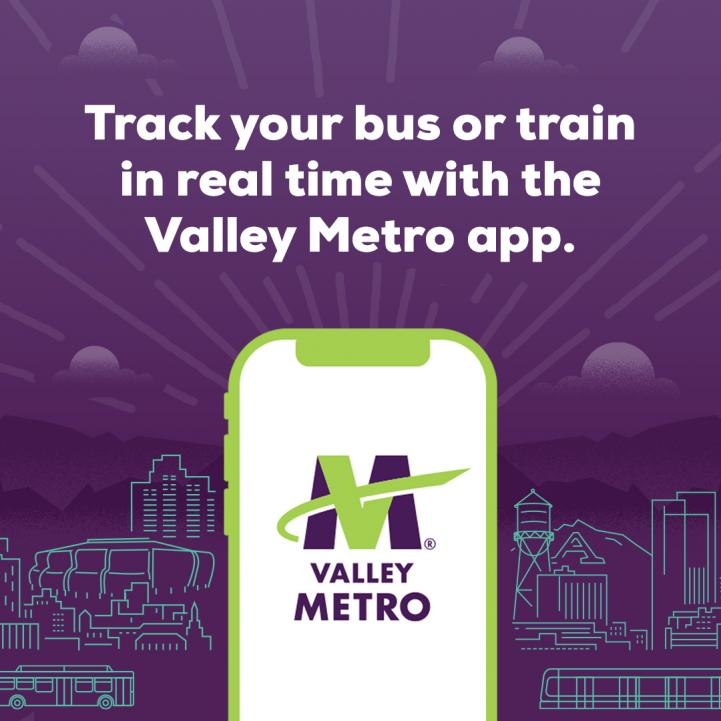 screenshot of Valley Metro Plan and Track app