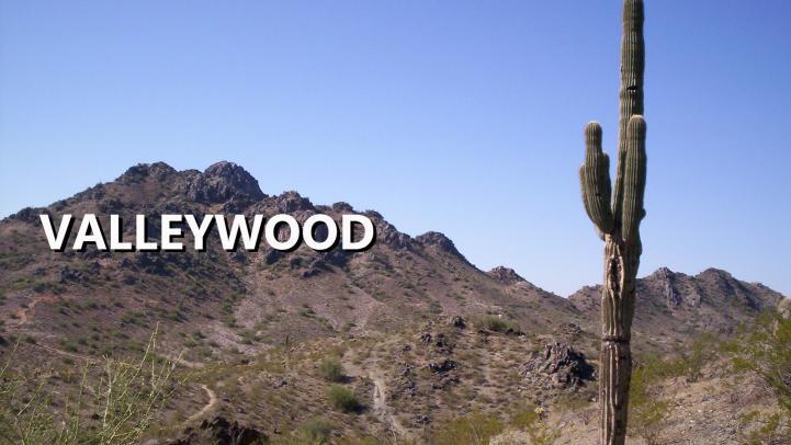 Valleywood sign on mountain