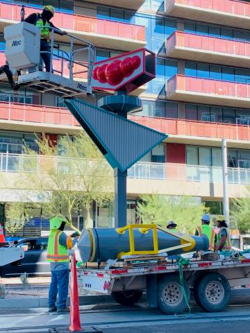 Valley Metro installing new art along Tempe Streetcar route