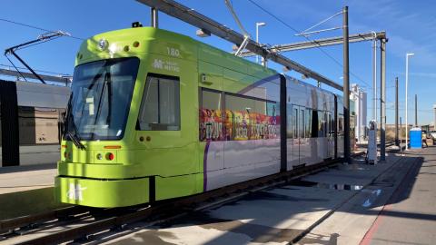 Streetcar vehicle at OMC