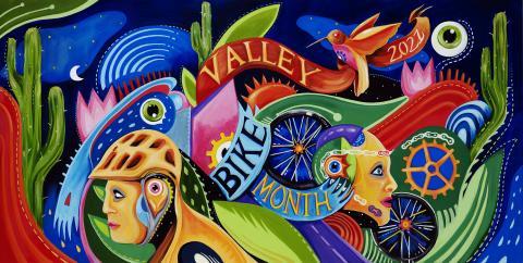 2021 Valley Bike Month Artwork