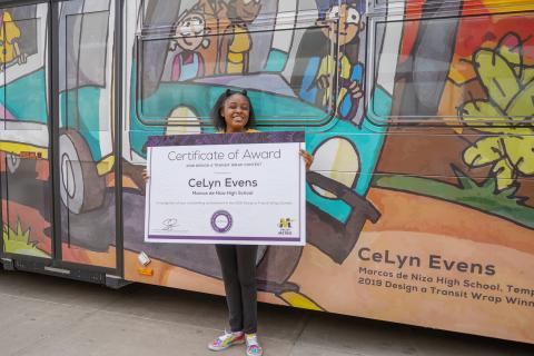 2019 Design a Transit Wrap winner CeLyn Evens