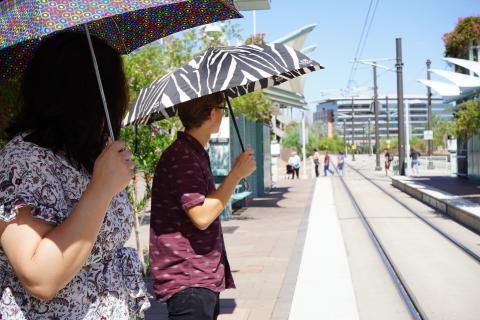 Umbrella light rail