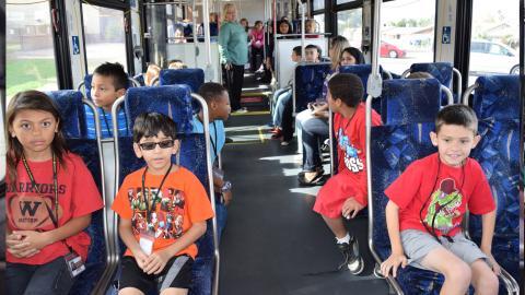 Kids on a Valley Metro bus