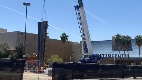 Construction on the future Metrocenter station