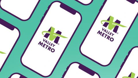 phone with VM logo