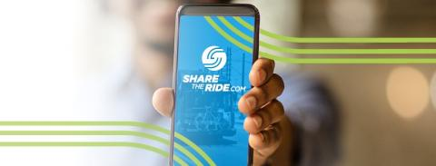 ShareTheRide app on a cell phone