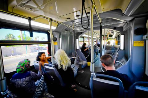 Valley metro riders on the bus