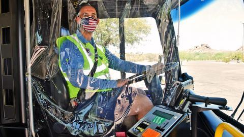 Valley Metro, bus driver, COVID countermeasures