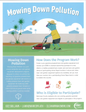 Mowing down pollution flyer thumbnail