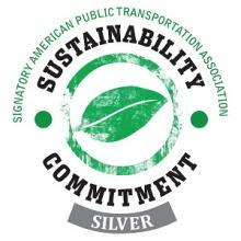 Sustainability Commitment logo.
