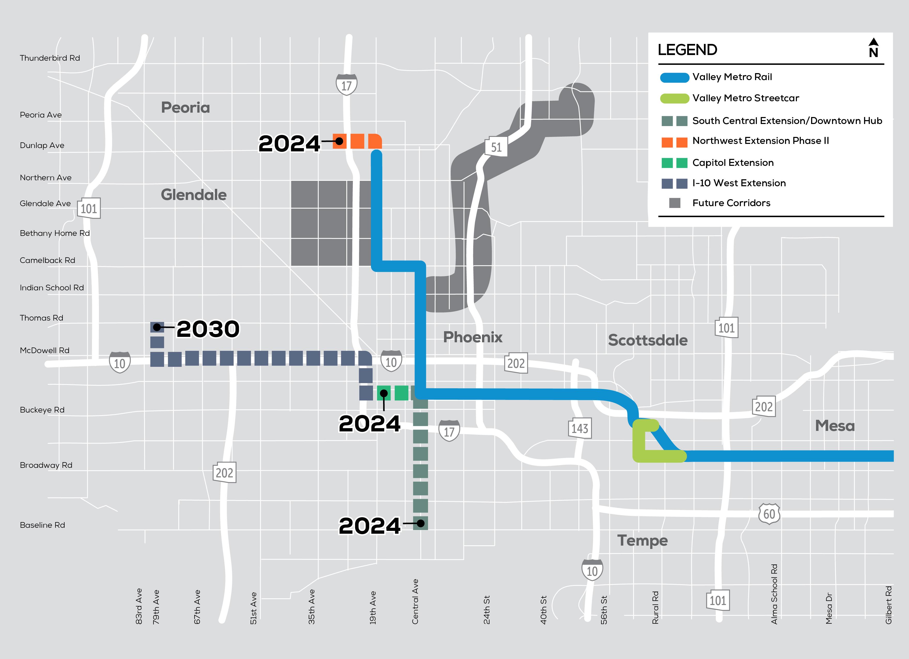 High capacity transit map