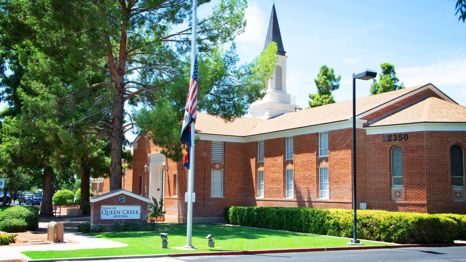 Street view of Queen Creek Town Hall.